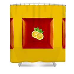 Kitchen Art - Citrus Lemon Shower Curtain by Aimelle ML