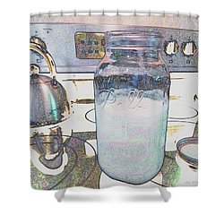 Shower Curtain featuring the digital art Kitchen Life by Aliceann Carlton