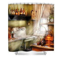Kitchen - Momma's Kitchen  Shower Curtain by Mike Savad