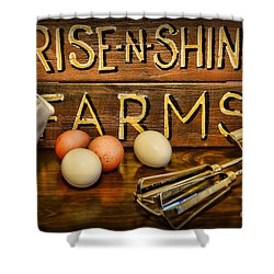 Kitchen  Rise And Shine Shower Curtain by Paul Ward
