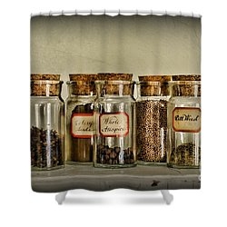 Kitchen Spices Colonial Era Shower Curtain by Paul Ward