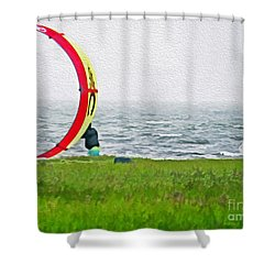 Kite Boarder Shower Curtain