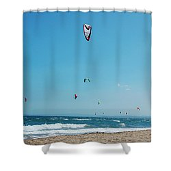 Kitesurf Lovers Shower Curtain