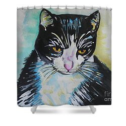 Kitty ..all Grown Up Shower Curtain by Chrisann Ellis