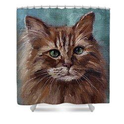 Kitty - Custom Pet Portrait Shower Curtain