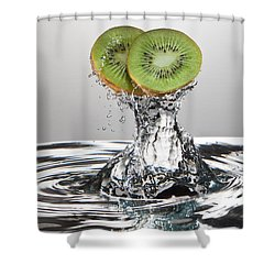Kiwi Freshsplash Shower Curtain by Steve Gadomski