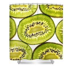Kiwi Fruit IIi Shower Curtain by Paul Ge