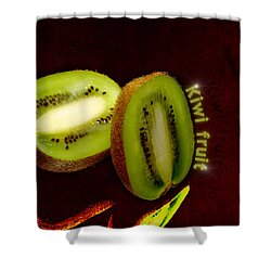 Kiwi Fruit Shower Curtain by Tommytechno Sweden