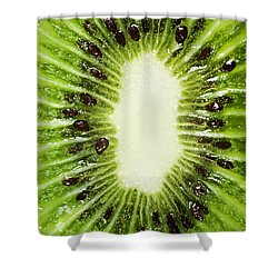 Kiwi Slice Shower Curtain by Chris Knorr