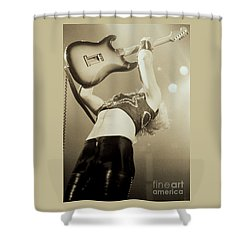K K Downing Of Judas Priest At The Warfield Theater During British Steel Tour - Unreleased Shower Curtain