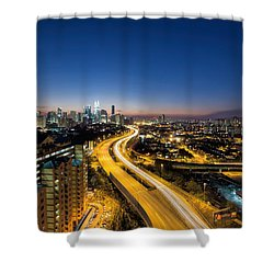 Kl At Blue Hour Shower Curtain by David Gn