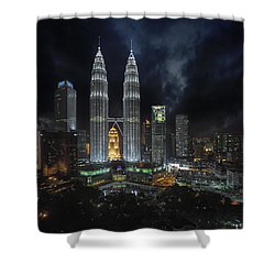 Klcc Shower Curtain by David Gn