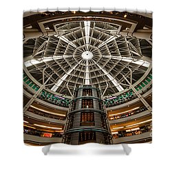 Klcc Mall Shower Curtain by Adrian Evans