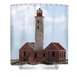 Shower Curtain featuring the photograph Klein Curacao Lighthouse by David Millenheft