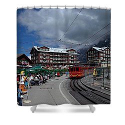 Kleine Schedegg Switzerland Shower Curtain