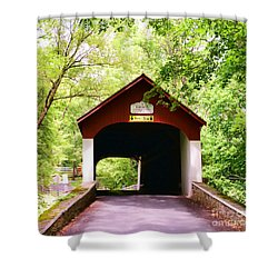 Knecht's Covered Bridge Shower Curtain by Paul Ward