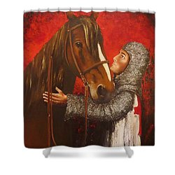 Knight And Horse Shower Curtain