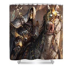 Knight Of Obligation Shower Curtain