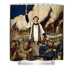 Knights Of Columbus, 1917 Shower Curtain by William Balfour Kerr