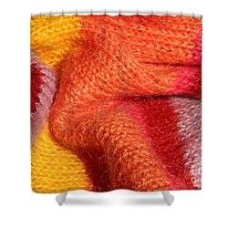 Knitted Textile Shower Curtain by Kerstin Ivarsson