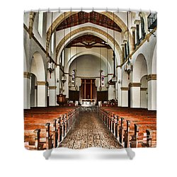 Knowles Memorial Chapel Rollins College 2 By Diana Sainz Shower Curtain