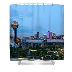Knoxville At Dusk Shower Curtain by Melinda Fawver