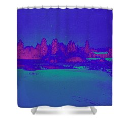 Knuutila Infrared Shower Curtain by Jouko Lehto