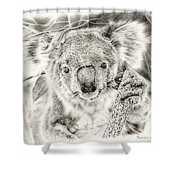 Koala Garage Girl Shower Curtain