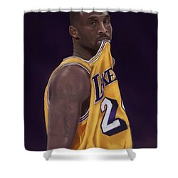 Kobe Bean Bryant Shower Curtain by Jeremy Nash