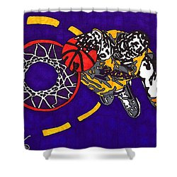 Kobe Bryant Shower Curtain by Jeremiah Colley