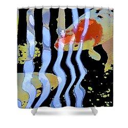 Koi 20 Shower Curtain by Pamela Cooper