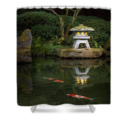 Koi By Lantern Light Shower Curtain
