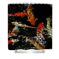 Koi Shower Curtain by Elizabeth McTaggart