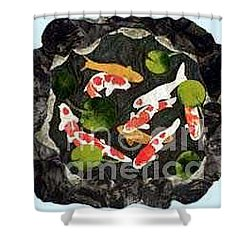 Koi Fest Shower Curtain by Jenny Williams