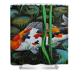 Koi Fish Shower Curtain by Katherine Young-Beck
