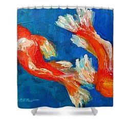 Koi Fish Shower Curtain by Patricia Awapara