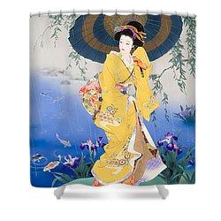 Koi Shower Curtain by Haruyo Morita