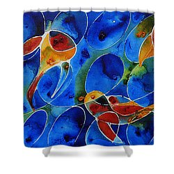 Koi Pond 2 - Liquid Fish Love Art Shower Curtain