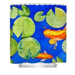 Da126 Koi Pond By Daniel Adams Shower Curtain