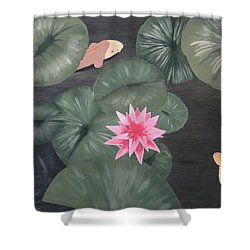 Koi Shower Curtain by Tim Townsend