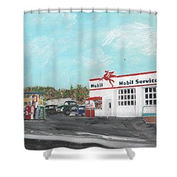 Koki's Garage Shower Curtain
