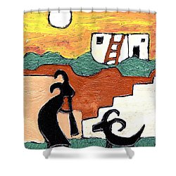 kokopeli at the Pueblo Shower Curtain