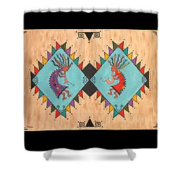 Kokopelli Jammin Shower Curtain