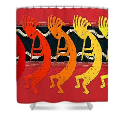Kokopelli Quintet 4 Shower Curtain