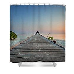 Komandoo Sunrise Shower Curtain