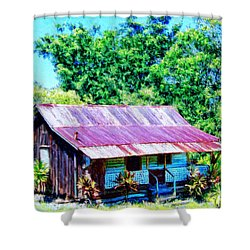 Kona Coffee Shack Shower Curtain by Dominic Piperata