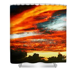 Shower Curtain featuring the photograph Kona Sunset 77 Lava In The Sky  by David Lawson