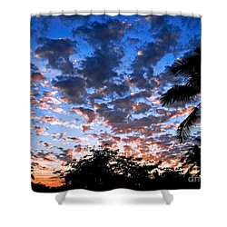 Shower Curtain featuring the photograph Kona Sunset by David Lawson