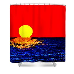 Kona Sunset Pop Art Shower Curtain