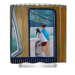 Kootenay Lake Ferry Shower Curtain